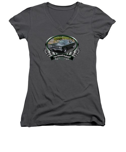 1968 Plymouth Roadrunner Davie Women's V-Neck T-Shirt