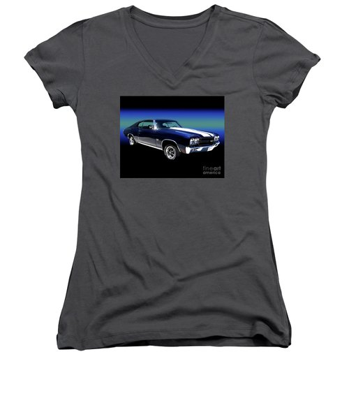 1970 Chevelle Ss Women's V-Neck (Athletic Fit)