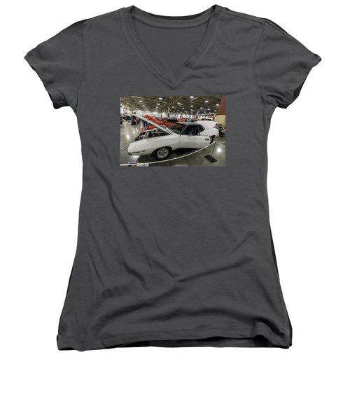 1972 Javelin Sst Women's V-Neck T-Shirt (Junior Cut) by Randy Scherkenbach