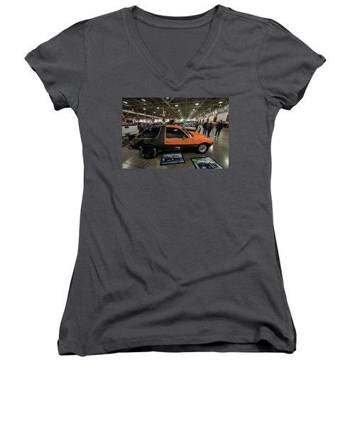 1975 Amc Pacer Women's V-Neck T-Shirt (Junior Cut) by Randy Scherkenbach