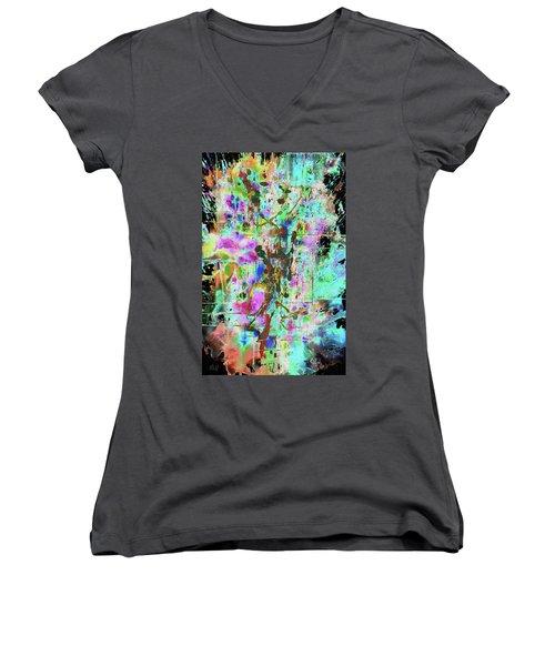 1995.033014invertx2 Women's V-Neck T-Shirt (Junior Cut) by Kris Haas