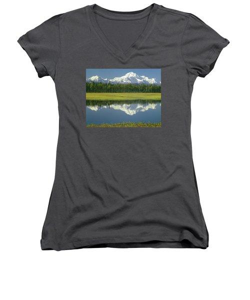 1m1325 Mt. Hunter And Mt. Denali Women's V-Neck