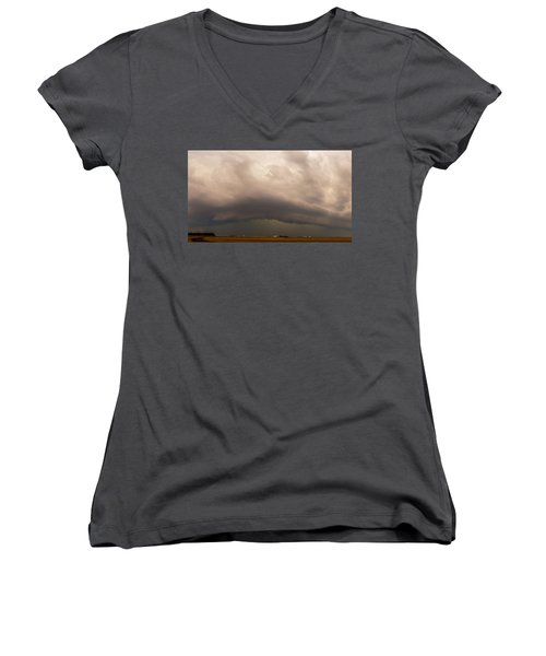 3rd Storm Chase Of 2015 Women's V-Neck (Athletic Fit)