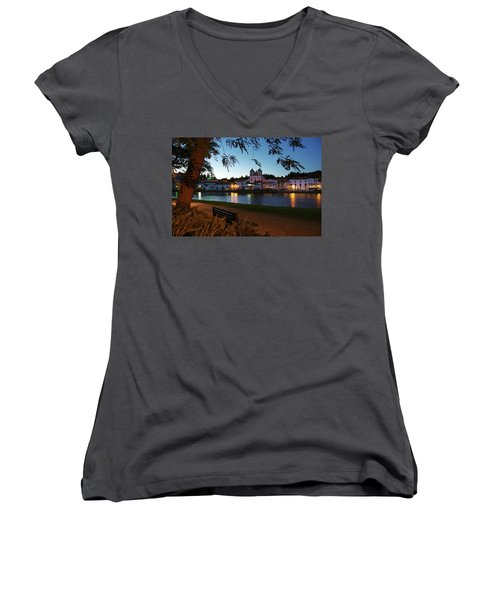 Women's V-Neck T-Shirt (Junior Cut) featuring the photograph Alcacer Do Sal by Carlos Caetano