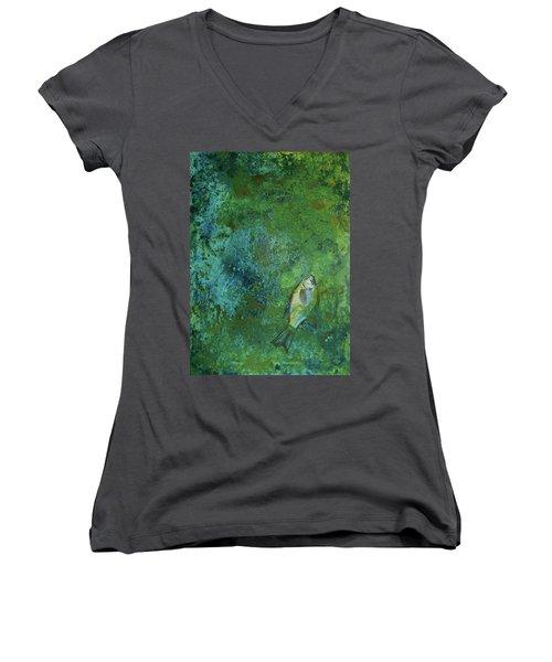 Algae Bloom Women's V-Neck T-Shirt (Junior Cut)