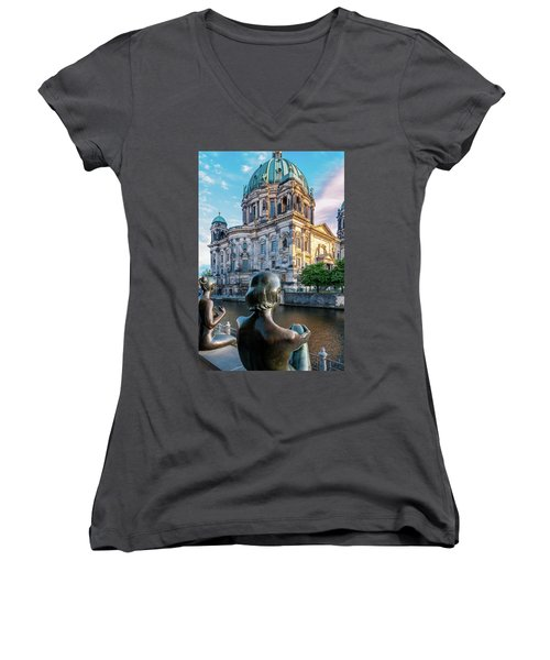 Berlin Women's V-Neck T-Shirt (Junior Cut) by Stavros Argyropoulos