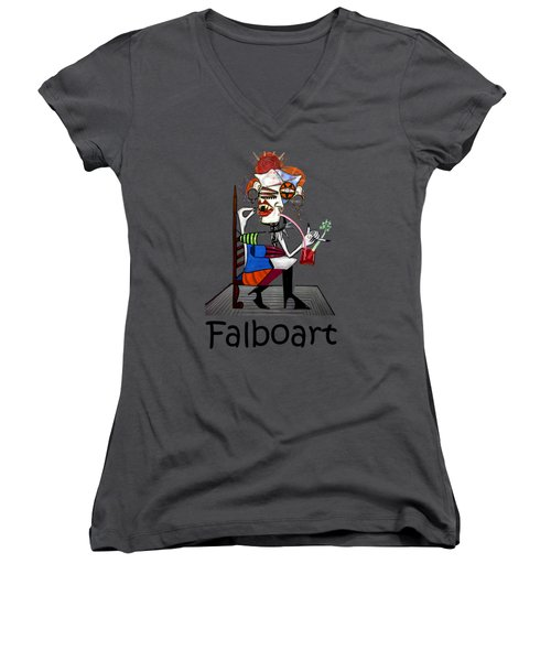 Bloody Mary Let The Dead Bury The Dead Women's V-Neck T-Shirt (Junior Cut) by Anthony Falbo