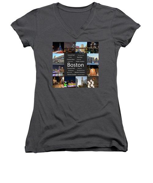 Boston Ma Collage Women's V-Neck