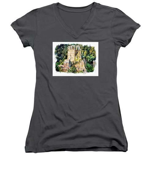 Burg Eltz - Moselle Women's V-Neck T-Shirt