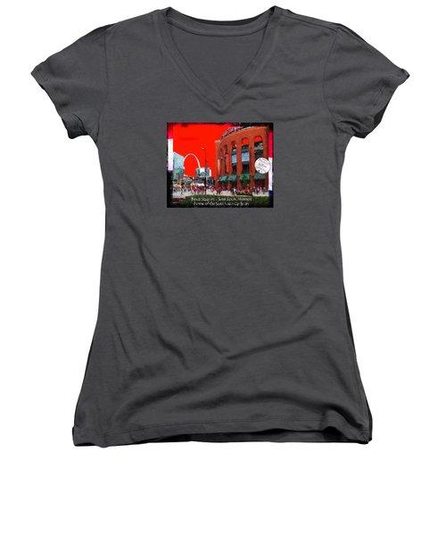 Busch Stadium - Saint Louis Missouri Women's V-Neck T-Shirt