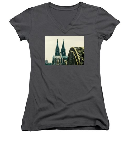 Cathedral Women's V-Neck T-Shirt (Junior Cut) by Cesar Vieira