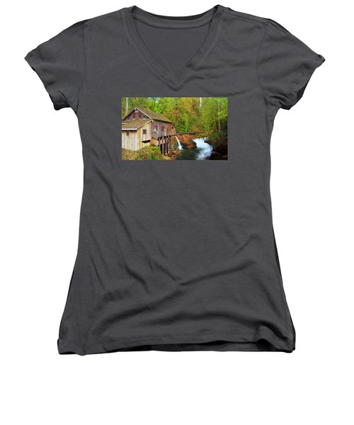 Cedar Creek Grist Mill Women's V-Neck T-Shirt