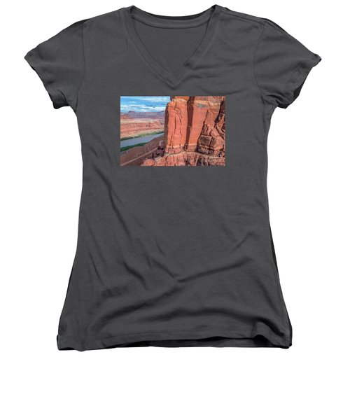 Chicken Corner Trail And Colorado River Women's V-Neck (Athletic Fit)