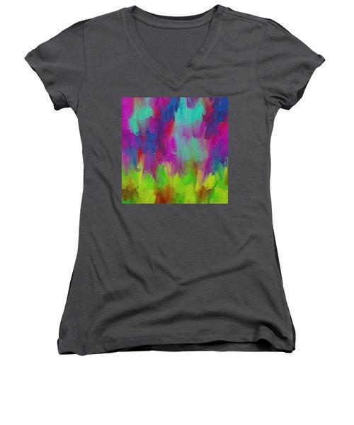 Dance  Women's V-Neck T-Shirt (Junior Cut) by Ely Arsha