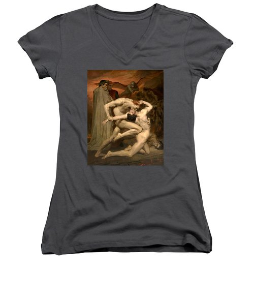 Dante And Virgil In Hell  Women's V-Neck (Athletic Fit)