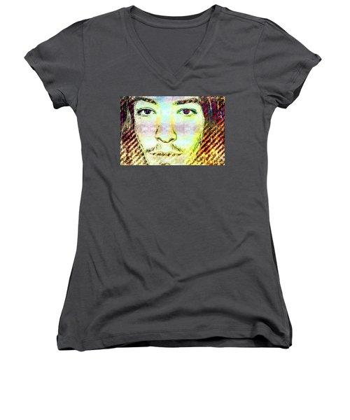 Ezra Miller Women's V-Neck T-Shirt