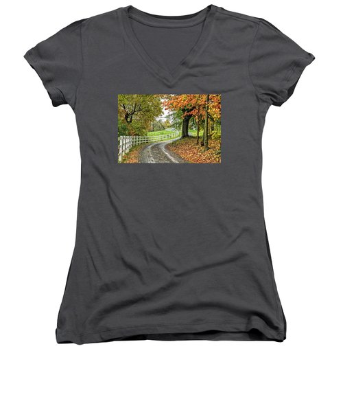 Fence Line Women's V-Neck