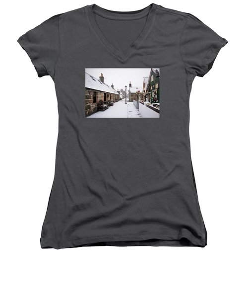Fittie In The Snow Women's V-Neck (Athletic Fit)