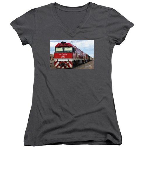 ghan at Alice Springs Women's V-Neck T-Shirt