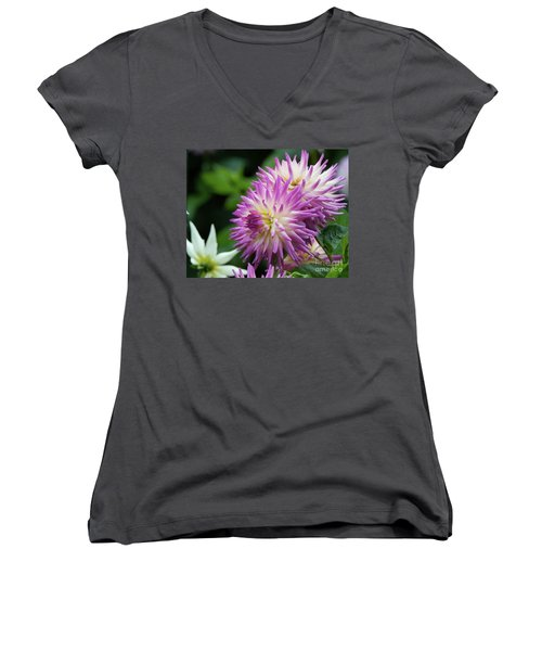 Golden Gate Park Dahlia Women's V-Neck T-Shirt