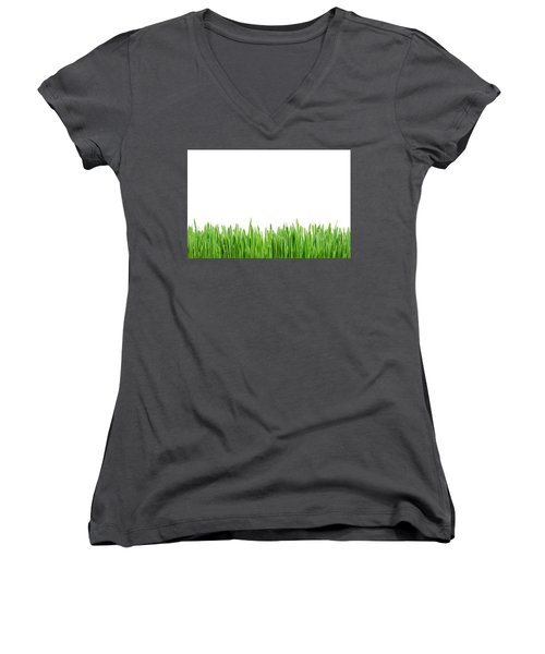 Green Grass Women's V-Neck (Athletic Fit)