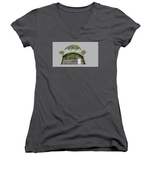 House Women's V-Neck T-Shirt (Junior Cut) by Bogdan Floridana Oana