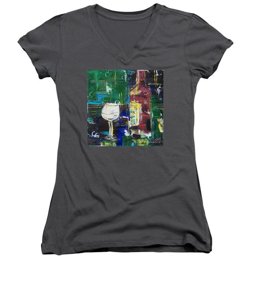 In Vino Veritas. Wine Collection 12 Women's V-Neck (Athletic Fit)