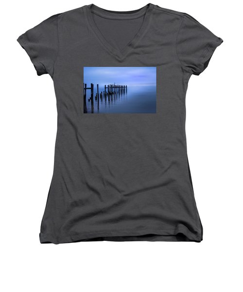 Colorful Overcast At Twilight Women's V-Neck