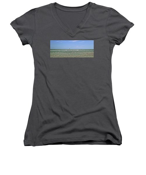 Key West Cover Photo Women's V-Neck T-Shirt (Junior Cut) by JAMART Photography