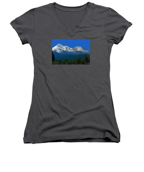 Mt. Shasta Women's V-Neck T-Shirt