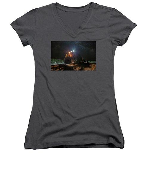 Night Train  Women's V-Neck T-Shirt