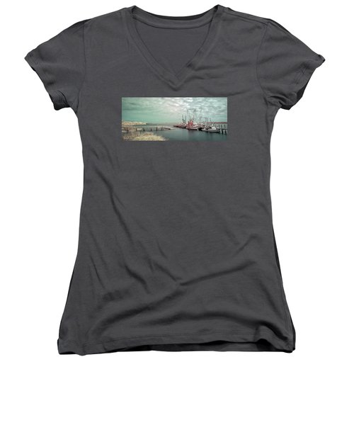 Port Royal Shrimp Boats Women's V-Neck