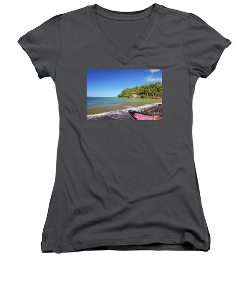 Women's V-Neck T-Shirt featuring the photograph Saint Lucia by Gary Wonning