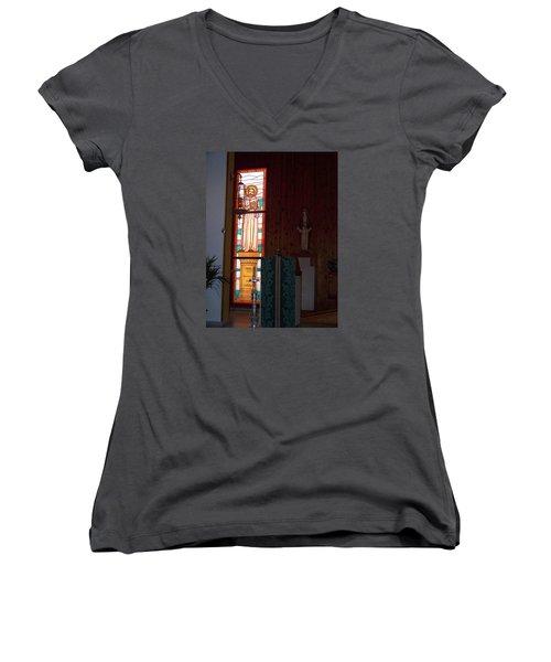 San Bernardo Abad Women's V-Neck T-Shirt