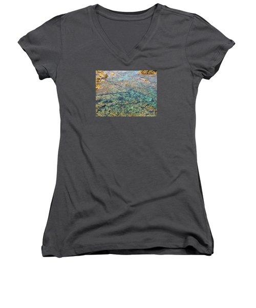 Sea  Women's V-Neck T-Shirt (Junior Cut) by Yury Bashkin