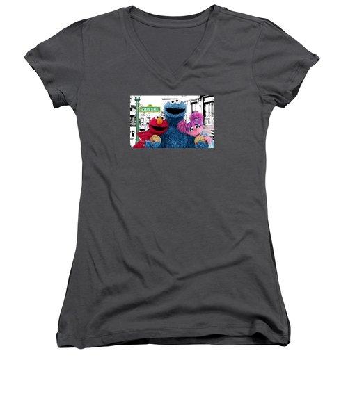 Sesame Street Women's V-Neck T-Shirt