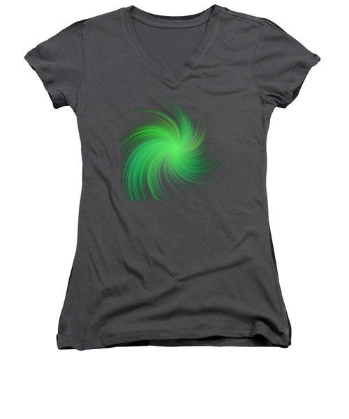 Spiral Women's V-Neck T-Shirt (Junior Cut) by Michal Boubin
