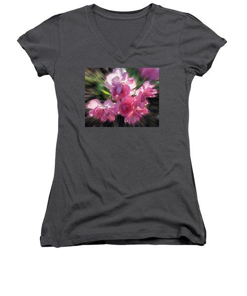 Women's V-Neck T-Shirt (Junior Cut) featuring the photograph Summer Flowers by Vladimir Kholostykh