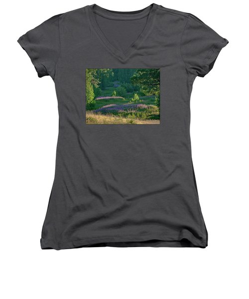 Summer Time Women's V-Neck T-Shirt (Junior Cut)