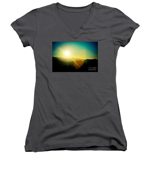 Sunrise In Himalayas Artmif Photo Raimond Klavins Women's V-Neck