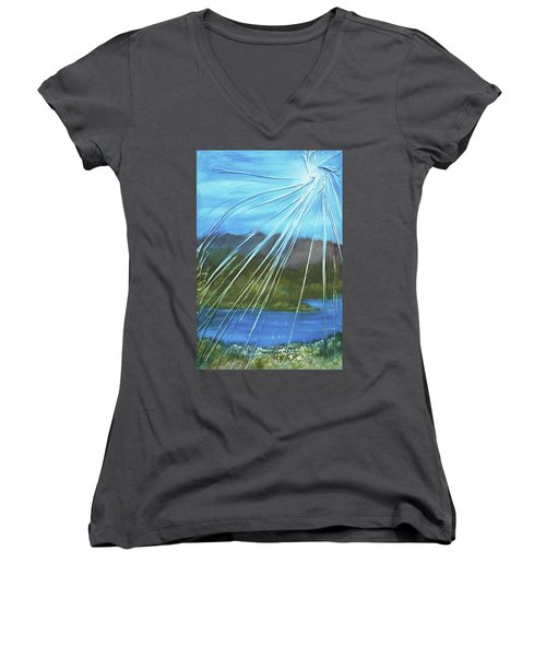 Sunshine Over Boise Women's V-Neck T-Shirt