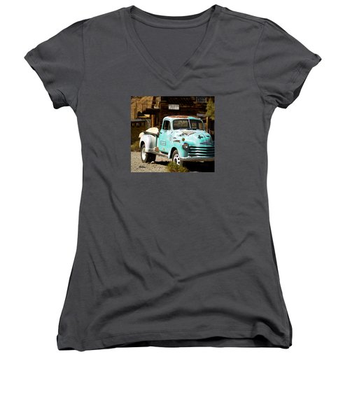 Techatticup Mine Ghost Town Nv Women's V-Neck T-Shirt