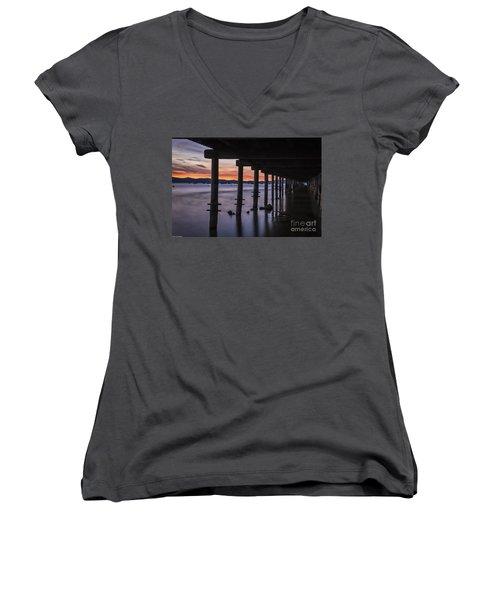 Timber Cove Women's V-Neck T-Shirt (Junior Cut) by Mitch Shindelbower