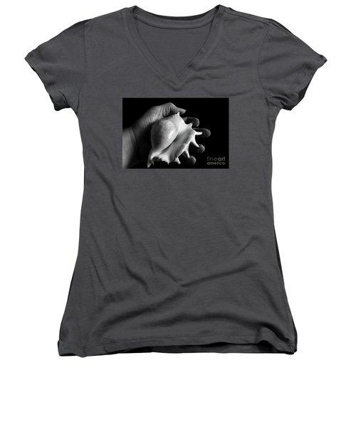 Touch Series - Shells Women's V-Neck T-Shirt (Junior Cut) by Nicholas Burningham