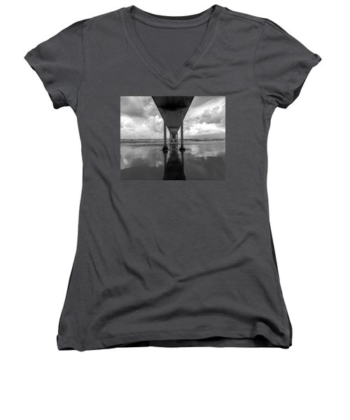 Women's V-Neck T-Shirt (Junior Cut) featuring the photograph Untitled by Ryan Weddle
