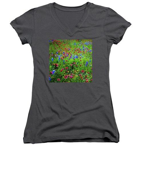 Wildflowers In Bloom Women's V-Neck