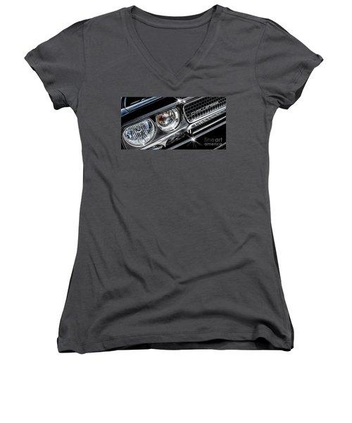 Women's V-Neck T-Shirt (Junior Cut) featuring the photograph 2009 Dodge Challenger by Brad Allen Fine Art