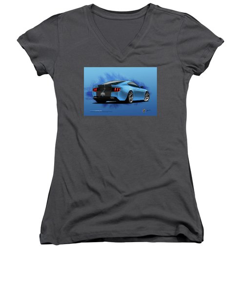 2014 Stang Rear Women's V-Neck