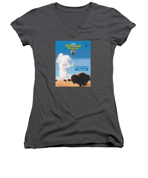 2016 Yellowstone Nps Reunion Women's V-Neck (Athletic Fit)