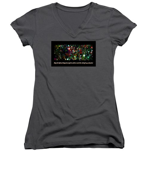 2017 Christmas Card 2 Women's V-Neck (Athletic Fit)
